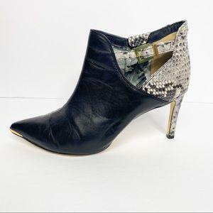 Ted Baker Snakeskin High Heel Booties Size 40.5